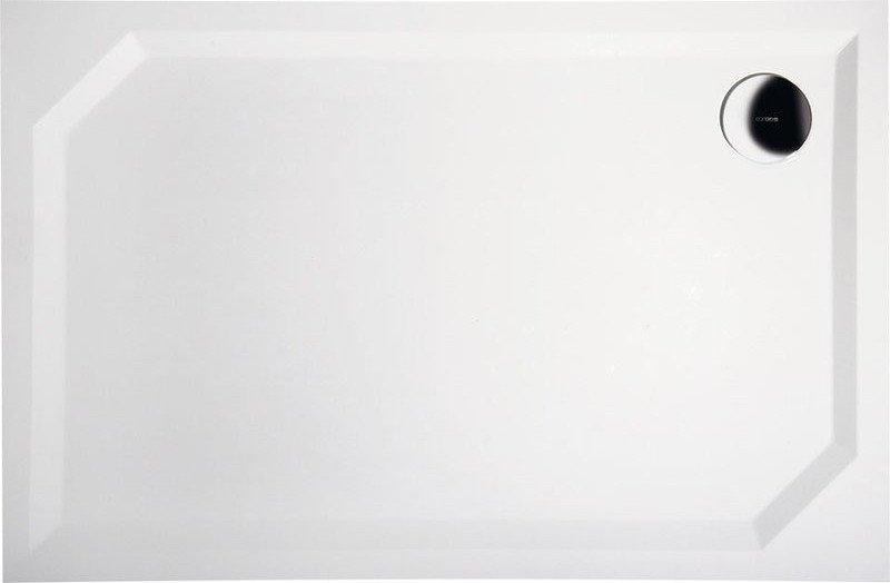 Gelco Sprchová vanička Sara - litý mramor - obdélníková 80x90 cm, bílá HS8090