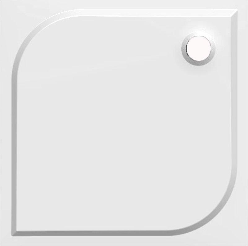Gelco Sprchová vanička Karre - litý mramor - čtvercová 90x90 cm, bílá HQ009