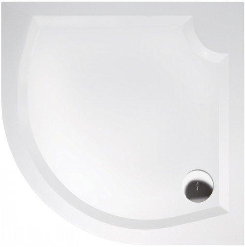 Sprchová vanička Laura - litý mramor - čtvrtkruhová 100x100 R50 cm, bílá