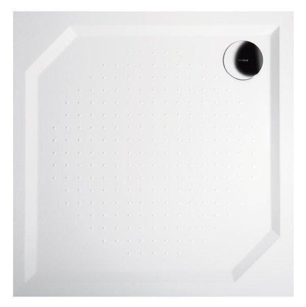 Sprchová vanička Aneta - litý mramor - čtvercová 80x80 cm, bílá
