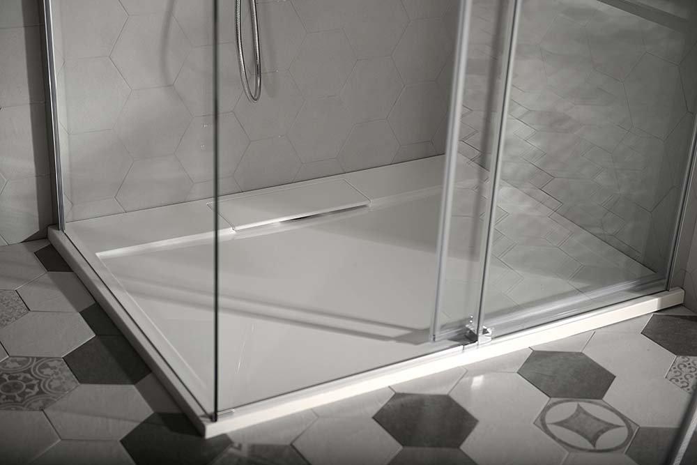 Sprchová vanička Irena - litý mramor - obdélníková 130x100 cm, bílá