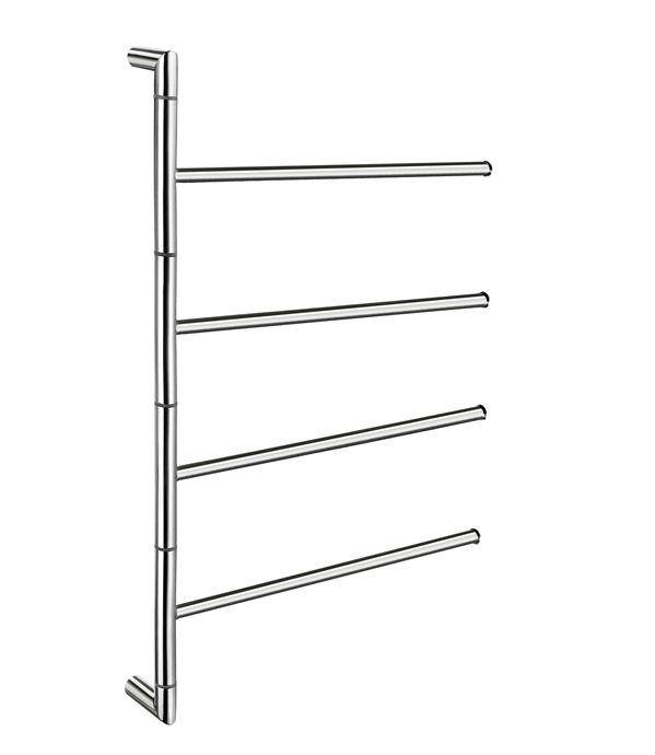 Smedbo Outline - držák ručníků otočný, leštěná nerez ocel FK634
