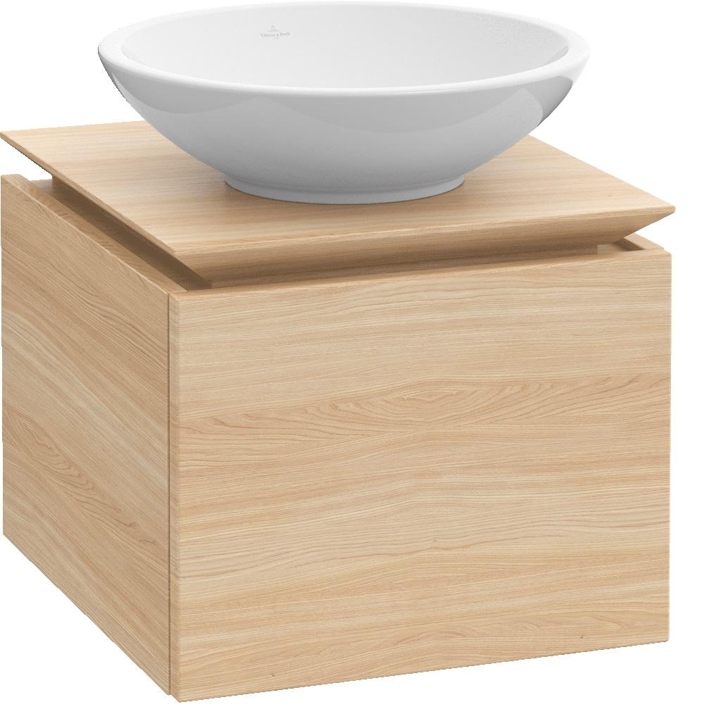 Villeroy-Boch Legato - spodní skříňka 60 x 50, závěsná, 1 zásuvka, diodové osvětlení B101L0xx