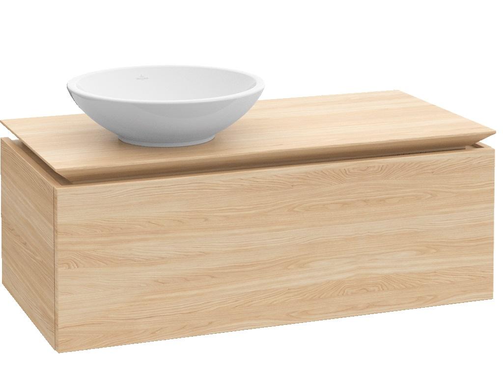Villeroy-Boch Legato - spodní skříňka 100 x 50, závěsná, 1 zásuvka, umyvadlo vlevo B10600xx