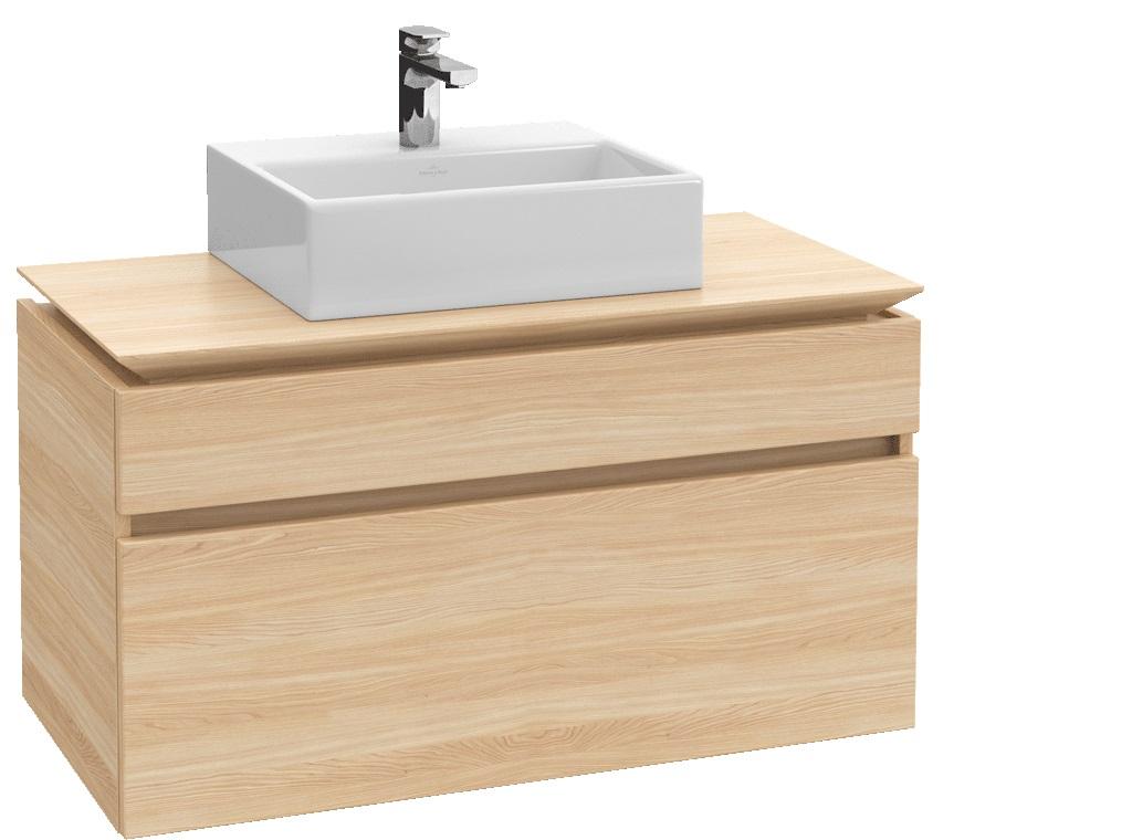 Villeroy-Boch Legato - spodní skříňka 100 x 50, závěsná, 2 zásuvky, diodové osvětlení B125L0xx