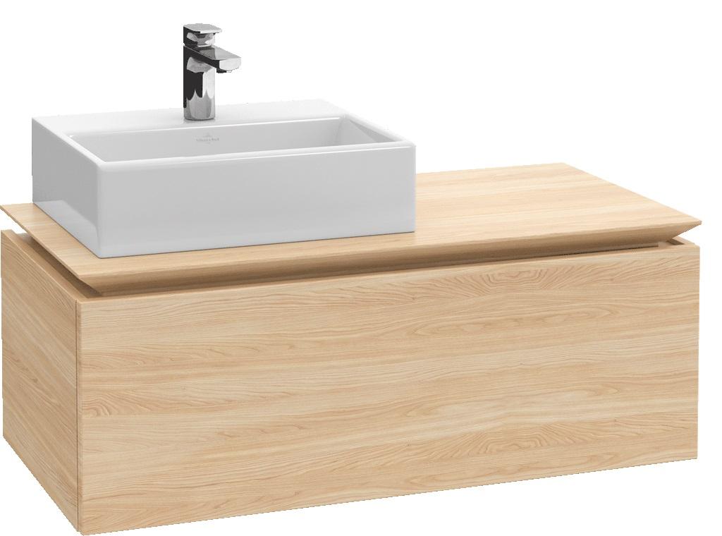Villeroy-Boch Legato - spodní skříňka 100 x 50, závěsná, 1 zásuvka, umyvadlo vlevo B10700xx