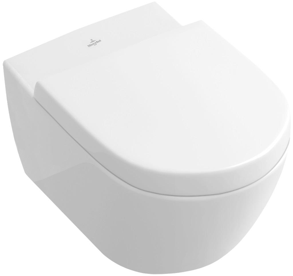 Villeroy-Boch Subway 2.0 - WC sedátko ke klozetu 560010, 5614R0, pomalé sklápění 9M68S101
