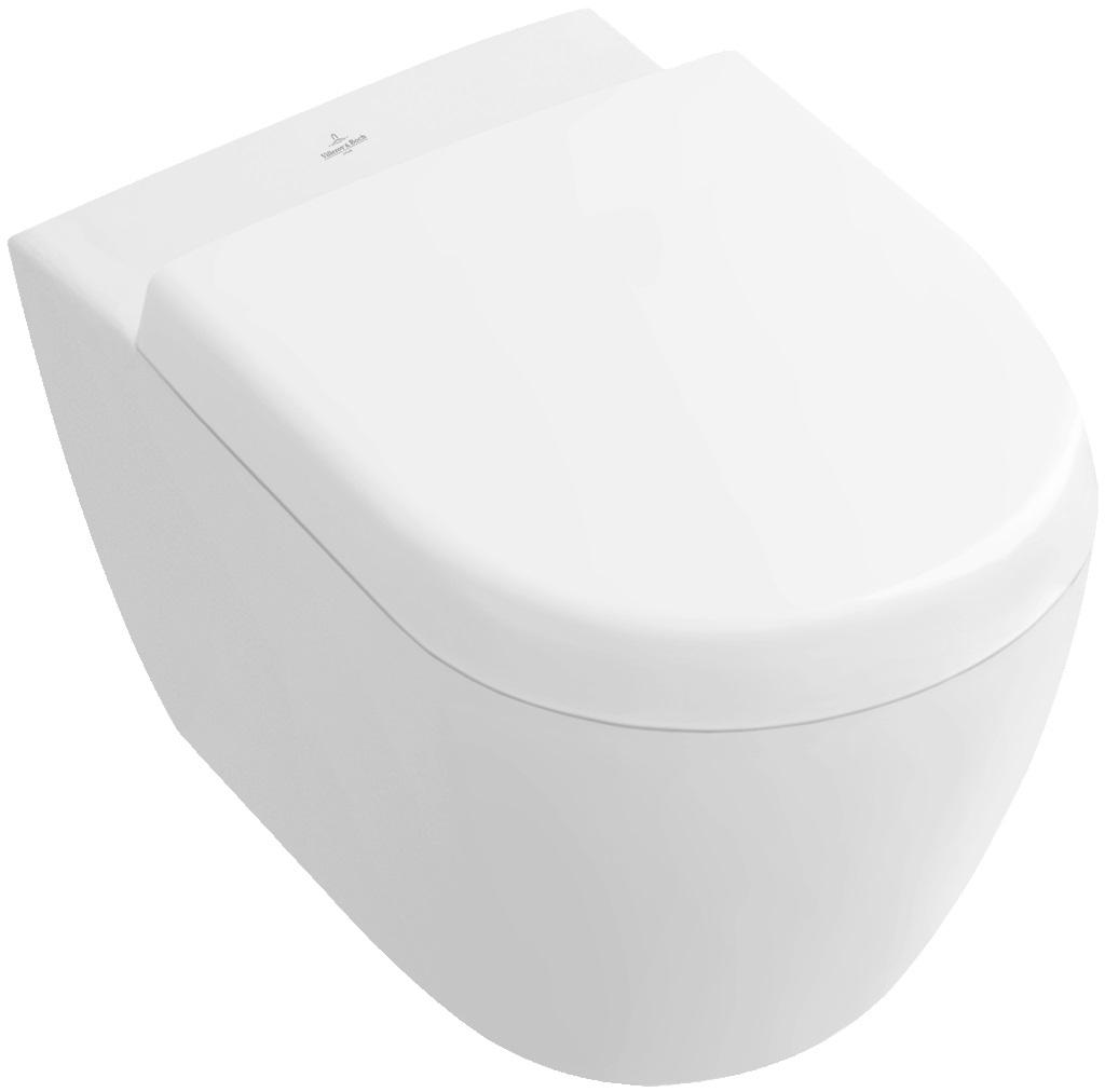 Villeroy-Boch Subway 2.0 - WC sedátko ke klozetu 560610, pomalé sklápění 9M69S101