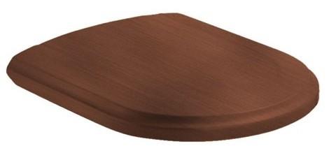 Villeroy-Boch Hommage - WC sedátko ke klozetu 6661B0 a 666310, ořech, závěsy ocel 9926K100