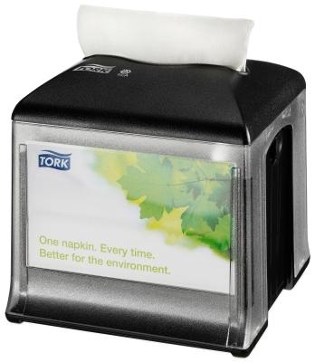 Tork N10 stolní zásobník na ubrousky - plast černý 272808