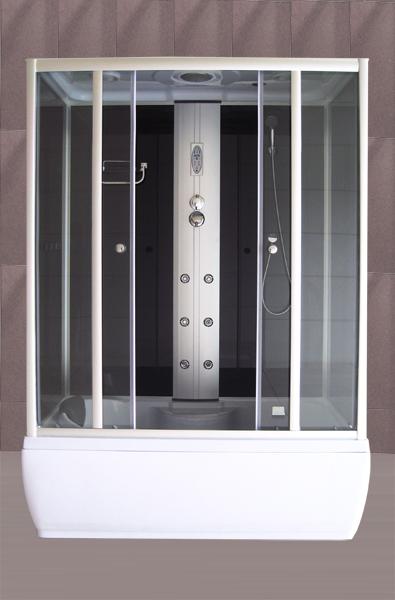 Roltechnik GENT BLACK 150x85 - masážní box obdélníkový 4000442