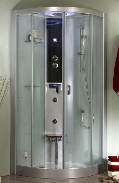 Roltechnik LLR 90x90 - parní box čtvrtkruhový, termostatická baterie 4G00107