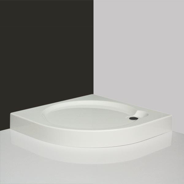 Dream-P 90 - sprchová vanička čtvrtkruhová 90x90, akrylátová, s nosičem