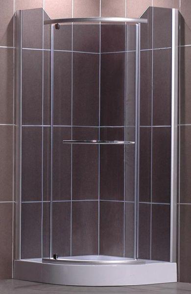 Roltechnik DENVER 90x90 - sprchový kout čtvrtkruhový s jednokřídlými dveřmi N0269