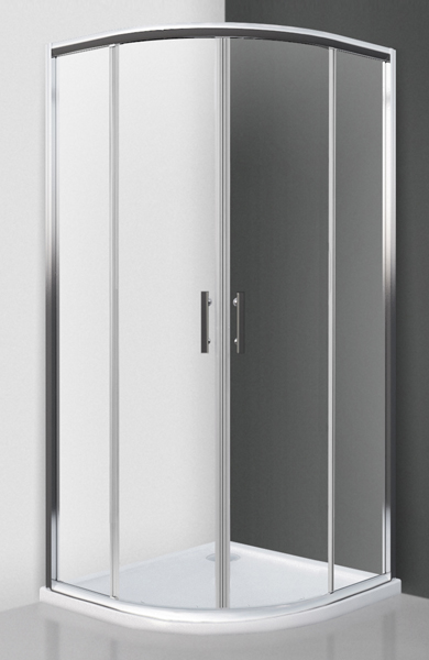 Roltechnik HGR2 90x90 - sprchový kout čtvrtkruhový s dvoudílnými posuvnými dveřmi 222-9001R55-00-02