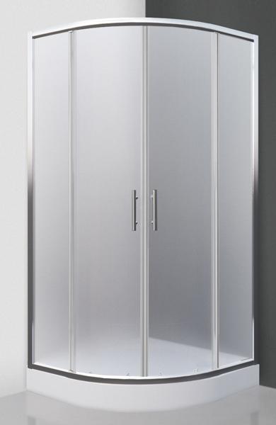 HOUSTON NEO 90x90 - sprchový kout čtvrtkruhový s dvoudílnými posuvnými dveřmi