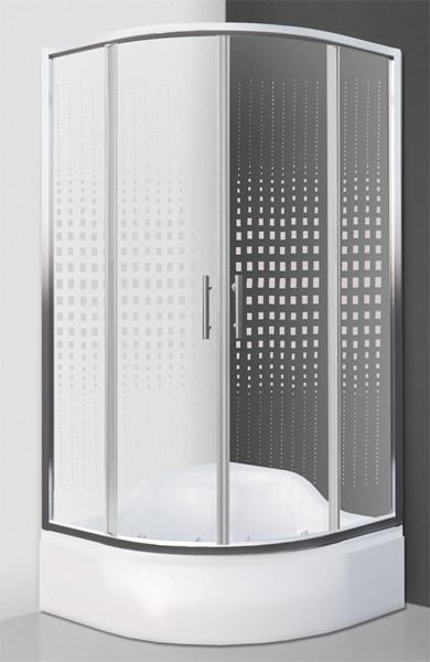 Roltechnik BUFFALO NEO 90x90 - sprchový kout čtvrtkruhový pro hlubokou vaničku N0661