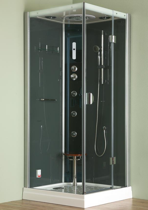 Roltechnik DLS 90x90 L/P - parní box čtvercový, termostatická baterie 4G00116/4G00103