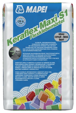 Mapei Keraflex Maxi S1 - cementové flexibilní lepidlo šedé, deformovatelné 1202625