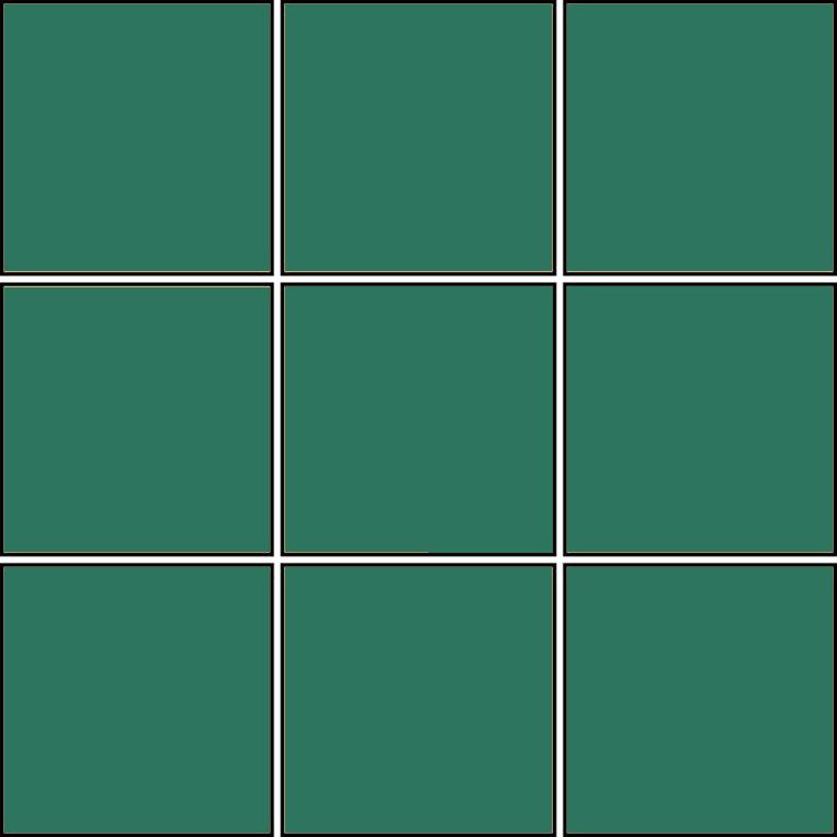 Pro Architectura dark green - dlaždice 9,7x9,7  tmavě zelená