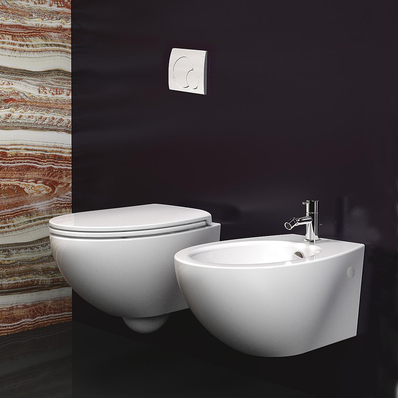 Catalano Velis 57 - WC závěsné 37x57, bez sedátka 1VSVL00
