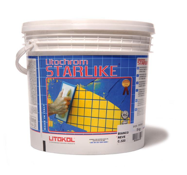 Litokol C.220 Silver - epoxidová spárovací hmota šedá, 10 kg STRSLV0010