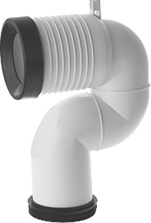 Duravit Vario připojovací oblouk pro WC kombi, odpad svislý 8990250006