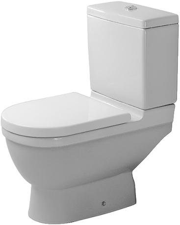 Duravit Starck 3 - WC kombi, hluboké splachování, odpad svislý, bez sedátka a nádržky 0126010000