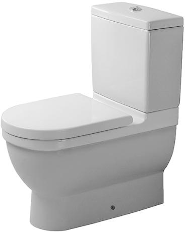 Duravit Starck 3 - WC kombi, hluboké splachování, odpad vario, bez sedátka a nádržky 0128090000