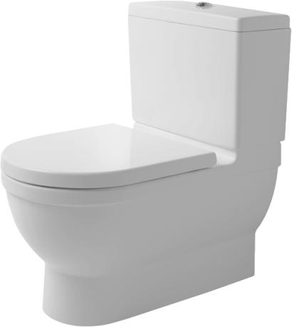 Duravit Starck 3 Big Toilet - WC kombi, hluboké splachování, odpad vario, bez sedátka a nádržky 2104090000