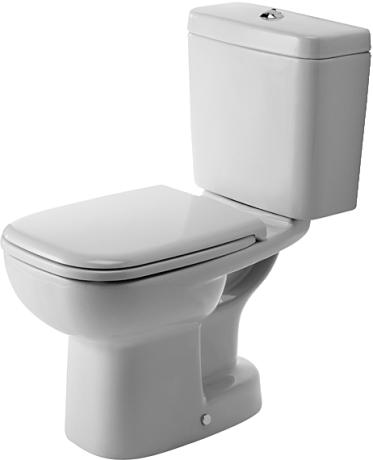 Duravit D-Code - WC kombi, hluboké splachování, odpad svislý, bez sedátka a nádržky 21110100002