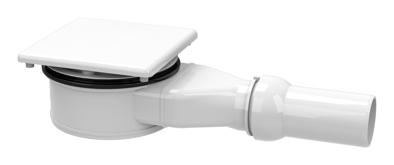Kaldewei Speciální armatura KA 120 pro sprchové vaničky Conoflat, se smaltovaným krytem, vodorovný odpad 4091
