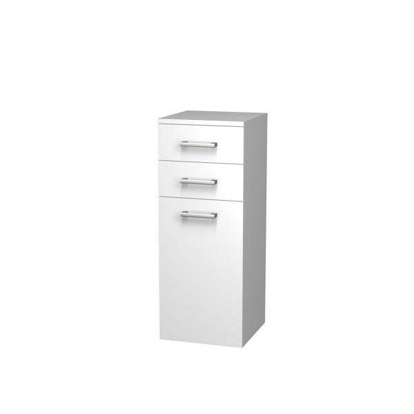 Intedoor Střední skříňka 35 cm, závěsná se 2 zásuvkami a košem na prádlo NYSS352ZK