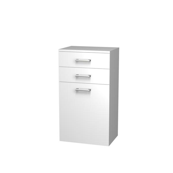 Intedoor Střední skříňka 50 cm, závěsná se 2 zásuvkami a košem na prádlo NYSS502ZK