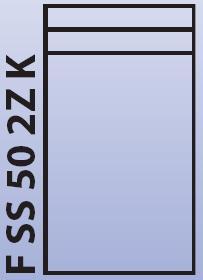 Intedoor Florida - střední skříňka 50 cm, závěsná se 2 zásuvkami a košem na prádlo FSS502ZK