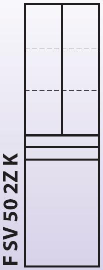 Intedoor Florida - vysoká skříňka 50 cm, závěsná se 2 zásuvkami a košem na prádlo FSV502ZK
