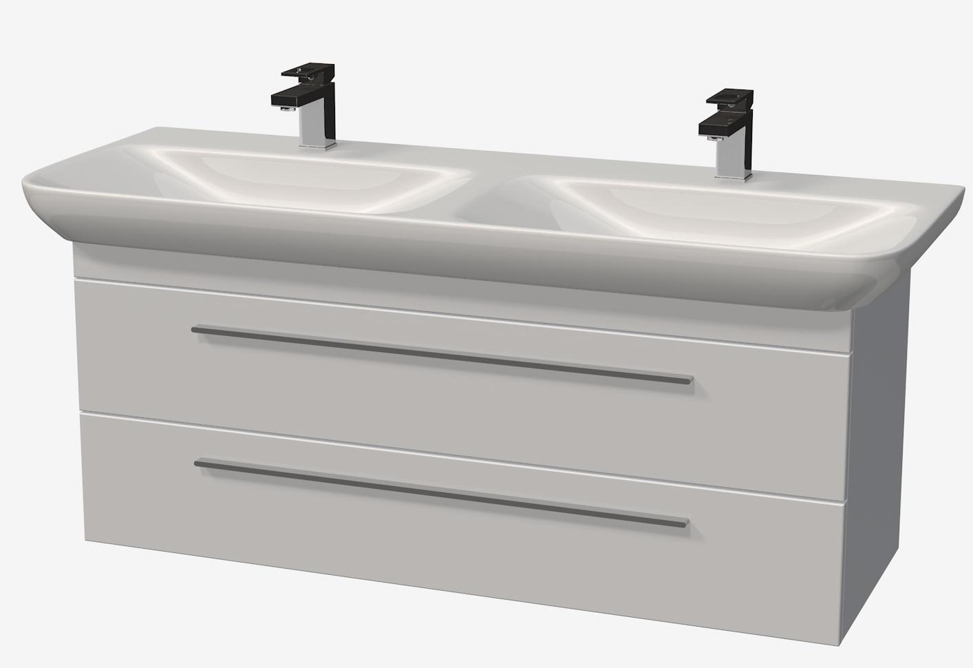 Intedoor Match It - spodní skříňka pod dvojumyvadlo 130 cm, závěsná se 2 zásuvkami MT130D