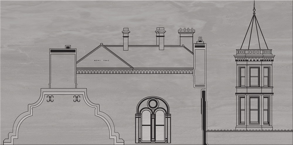 City grey inserto house A - obkládačka inzerto 29,7x60