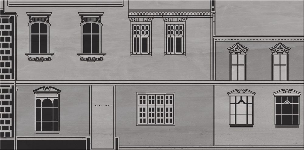 City grey inserto house B - obkládačka inzerto 29,7x60