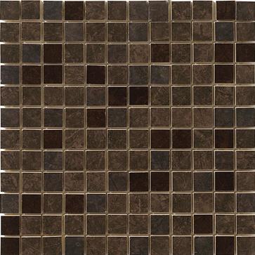 Mosaico 2,5x2,5 Lustro Brown - obkládačka mozaika 29,5 x 29,5 hnědá
