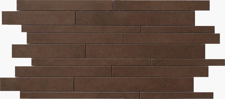 Mattoncino Caffe - dlaždice mozaika 30 x 60 hnědá