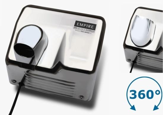 Cata Empire Ariel LF 2400 W Automatic - osoušeč rukou s infrasnímačem, lesklý nerez celokovový 9809