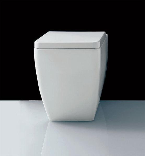 Kerasan EGO - WC mísa stojící, spodní/zadní odpad, BEZ SEDÁTKA 321601