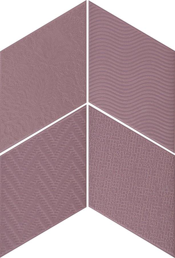 Rhombus Violet - dlaždice 14x24 fialová