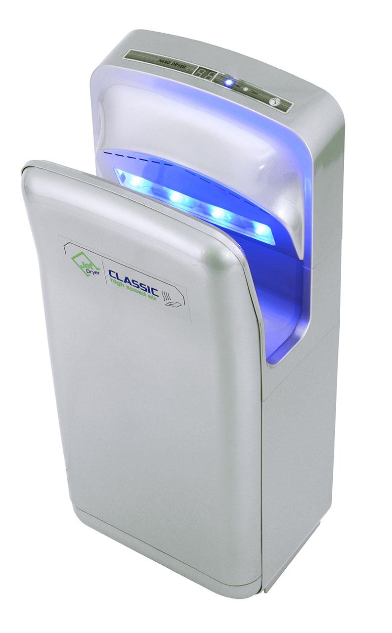Welt servis Jet Dryer Classic- tryskový vysoušeč rukou stříbrný Jet Dryer stříbrný