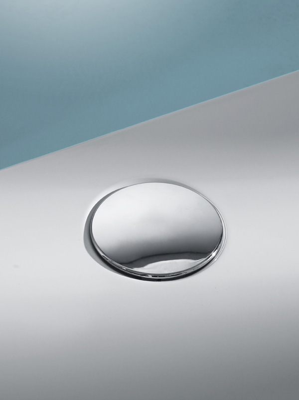 Hüppe Sifon s chromovou krytkou pro sprchové vaničky 508055R91