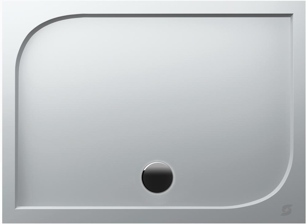 Thun - sprchová vanička, litý mramor - obdélníková 80x100x3 cm, bílá
