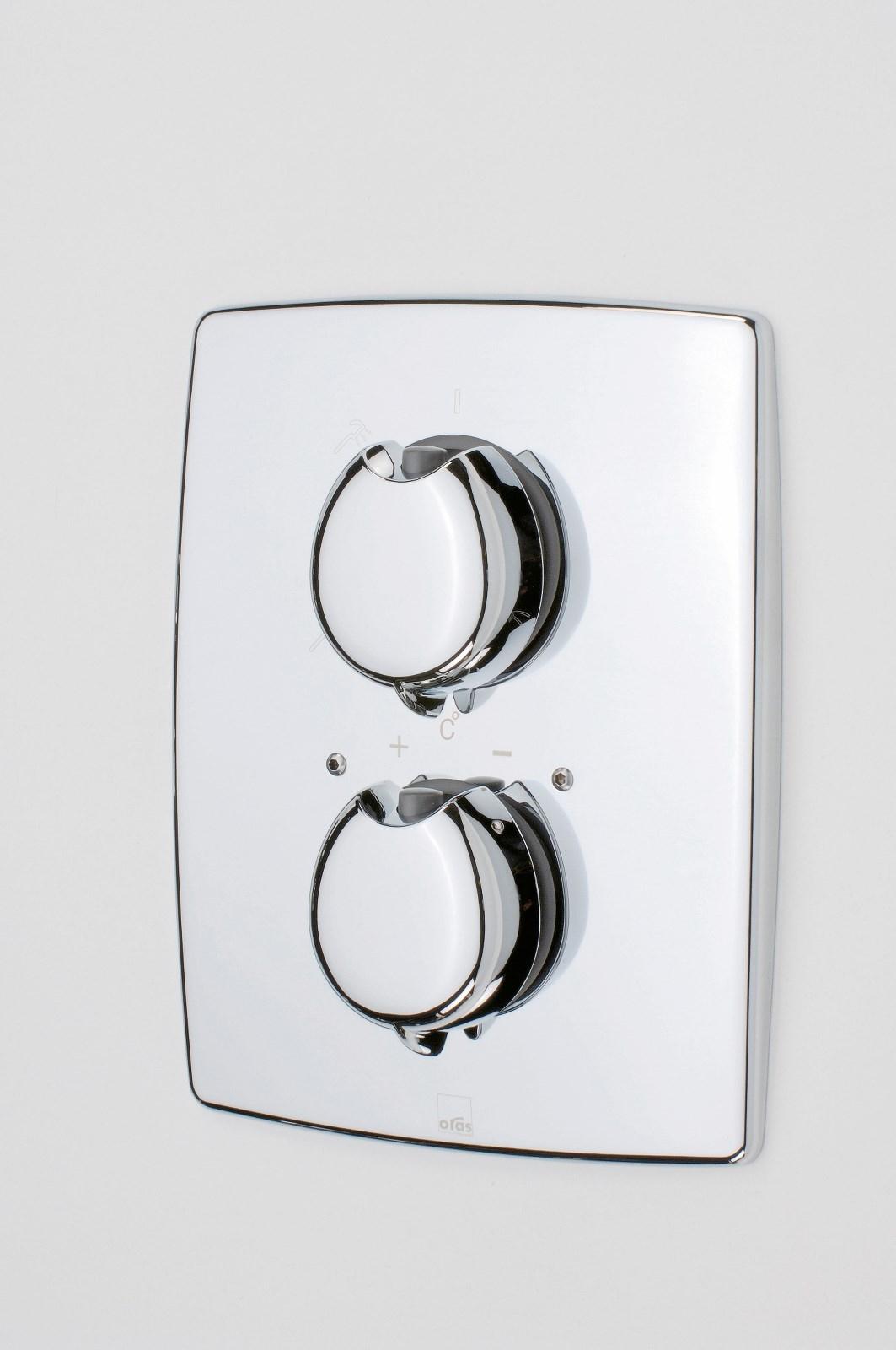Oras Optima - sprchová termostatická podomítková baterie, nadomítková část 7187