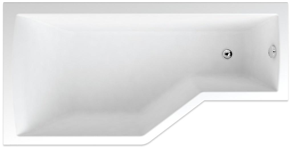 Teiko Tuba levá - asymetrická vana 160 x 80 cm Tuba 160 L