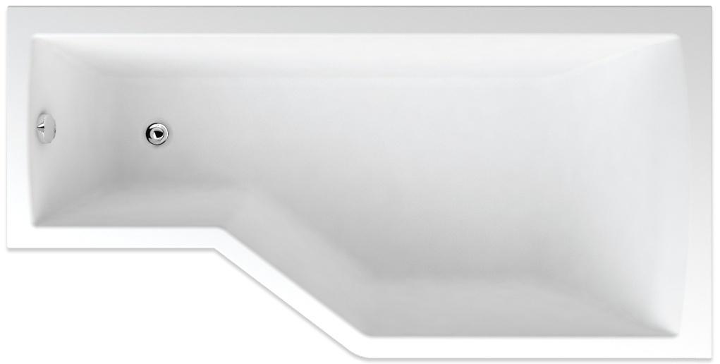 Teiko Tuba pravá - asymetrická vana 160 x 80 cm Tuba 160 P
